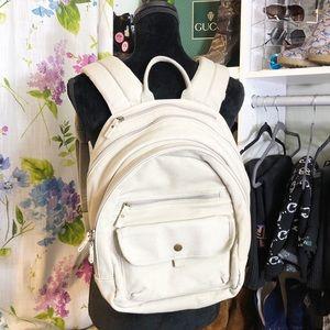 LL Bean Waxed Canvas Multipocket Zipper Backpack